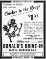 Advertisement for Donald's Drive-In Restaurant
