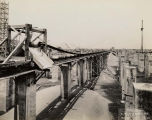 Field Museum construction site photograph of conveyor used to move sand and dry cement amongst the...