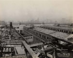 Field Museum construction site photograph -- view from roof, looking north west, dated May 4, 1918