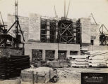 Field Museum construction site photograph -- view of north entrance, dated May 4, 1918