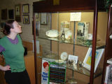Display of china at the Glenview Public Library