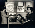 Display of photographs at the Glenview Public Library