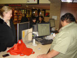 Circulatiion desk at Glenview Public Library