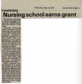 1989.2.Grants.1 Nursing School Earns Grant