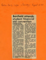 1981.2.Financial Aid.1 Benfield Attends Student Financial Aid Convention