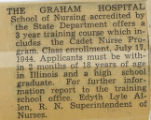 1944.2.Military.1 Graham Hospital School of Nursing Cadet Nurse Program