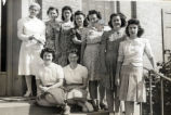 1945.1.17 Graham Hospital School of Nursing   Instructor and Students