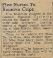 1943.2.Capping.1 Five nurses to receive caps