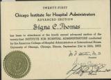 1953.16.1 Chicago Institute for Hospital Administrators