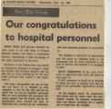 1968.2.Staff.1 Our congratulations to hospital personnel