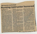 198-.2.Graduates.1 Nursing instructor honored