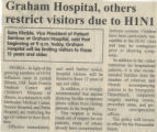 2010.2.Infection Control.1 Graham Hospital, others restrict visitors due to H1N1