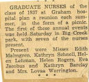 1937.2.Alumni.1 Graduate Nurses Plan Annual Reunion