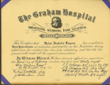 1938.14.1 Graham Hospital School of Nursing Diploma