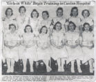 1939.2.Students.1 Girls in white begin training in Canton hospital