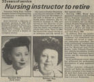 1989.2.Faculty.1 Nursing instructor to retire