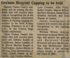 1981.2.Capping.2 Graham Hospital Capping to be held