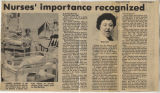 1981.2.Profession.1 Nurses' importance recognized
