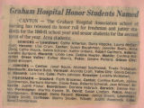 1981.2.Honors.1 Graham Hospital honor students named
