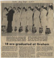 1982.2.Graduation.2 18 are graduated at Graham
