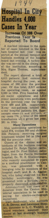 1944.2.Reports.1 Hospital in city handles 4,000 cases in year
