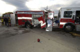 Crashed Northlake Fire Protection District Fire Engine