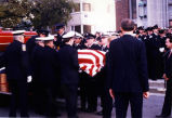 Pallbearers and Casket at George Winckler's Funeral