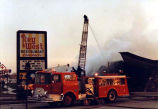 Aerial Apparatus at Key West Restaurant Fire, Countryside, Illinois