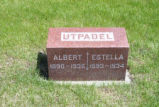 Albert and Estella Utpadel Grave Marker