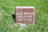 Lillie Winters Grave Marker