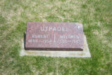Robert and Mildred Utpadel Grave Marker