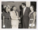 Governor William G. Stratton greets Howard Keel