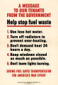 A message to our tenants from the government: help stop fuel waste