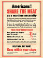 Americans!: share the meat as a wartime necessity