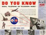 Do you know radio, telephone or telegraph work?: the U. S. Army needs your skill now!