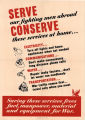 Serve our fighting men abroad: conserve these services at home