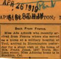 Adcock, Ada -- News Clipping