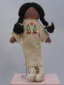 (Unknown people) cloth doll in deerskin (c 1960's)