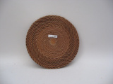 Coushatta (Georgia) coiled basketry mat (Early 20th Century)
