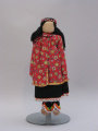 Iroquois (New York or Canada) corn husk doll (C. 1940's - 1950's)