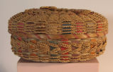 Penobscot woven basket with lid (Date Unknown)