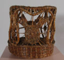 Coushatta short ornate basket (c 1920's)