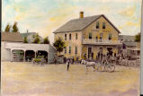Union Hotel - First Hotel in the Town of Dunton (Arlington Heights) - Hand Tinted