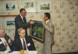 Governor Jim Thompson Receives Painting from Visiting Professor Chang Li