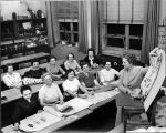 Elgin Community College Community Education class in Home Decoration, circa 1955
