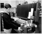 Fred Muehfelder with  Punch Card sorter