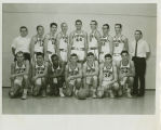 Basketball Team with Athletic Director and Coach, Dick Durrant, standing far right.