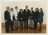 Governor Jim  Edgar, Elgin Community College President Flores, Board Member Kathe Pava with...