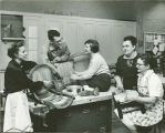 Elgin Community College community education chair caning class taught in the mid-1950s.