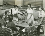 Elgin Community College community education food preparation class taught in the mid-1950s.